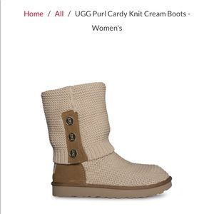 *BRAND NEW* UGG Purl Cardy Knit Cream Boots size 8